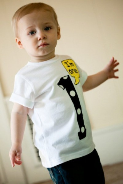 I love the idea of the birthday boy/girl wearing a cute custom shirt!
