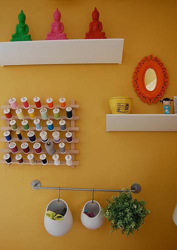 My sewing room (by Jennifer Ladd handmade)