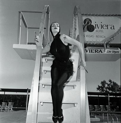 Vampira, proving here that Goths can swim.