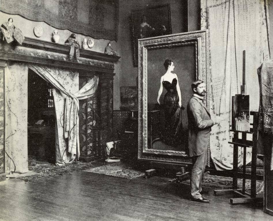 breathingvioletfog:  John Singer Sargent in his studio, c. 1884