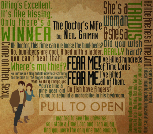 series60s:  The Doctor's Wife, typography