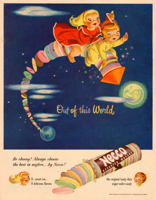Necco Wafers advertisement, 1951