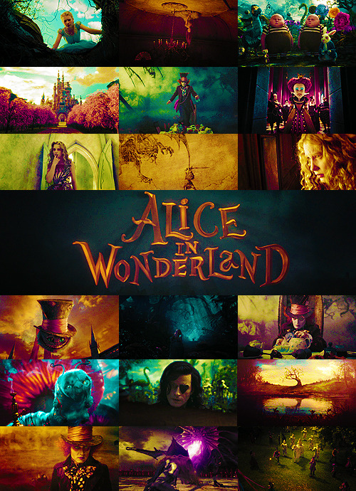 "Top 100 Movies | in no particular order Alice in Wonderland (2010)""Why is a raven like a writing desk""?"