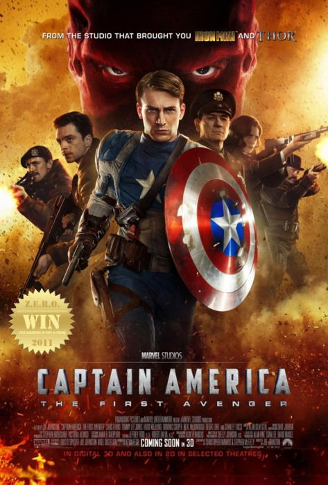 "Captain America: The First Avenger (2011) After being deemed unfit for military service, Steve Rogers volunteers  for a top secret research project that turns him into Captain America, a  superhero dedicated to defending America's ideals. Fun and action packed! But a failed attempt at redemption… it's just like the comic-to-film fail Captain America (1990). Big expectations, weak delivery. Modern cinema technology has resurrected Cap and added some badassness to his persona. Trouble is… It's Captain America. One of my least favorite ""i don't use weapons i use a shield"" comic book heroes. I found his aura (in general- comic, cartoon and movies) bossy, arrogant and just a plain old boring straight edge hero. Chris Evans was perfect as the captain. No complaints here, he's been amusing me ever since. There was a woman somewhere in this flick… obviously forgettable. Bucky was weak and the rest of the grunts/soldiers were typical.  Tommy Lee Jones!!! fuckin' win man! AND That badass motherfucker Samuel L. Jackson returns as the ""black"" Nick Fury (i grew up to a white version- don't mean to be racist). *You gotta see these two go head to head in The Sunset Limited (2011). 2 men, 1 apartment = brilliant. The good parts. The props, costumes and sets really did it for me. Amazing, it made me feel the film. I like that sorta grungy old-school look. The story developed well as it progressed. Viewers have to be reminded ""The First Avenger"" - this basically sets up the *fingers crossed* amazing coming moment in comic history! The story of Cap is crap, it's The Avengers (2012) i like.   And now… the painful parts. Hugo Weaving, what the hell did you do to my Red Skull?!? Was he even in the movie?!? I must say the ""battle"" was weak and old. And the effects did not help at all. Damn Hollywood for messing, the best part of the story, up. Red Skull was a bitch.  There are more plus then minuses here. I expected way to much. It was fun, exciting and an adventure to remember. But it didn't ""wow"" me, it's good but not that good. I liked it but didn't love it. Would i watch it again? yes. Would i recommend seeing it (at least once)? yes. Would i say it's the greatest comic book movie? no. A ""win"" for comicbookdom, but not cinema."
