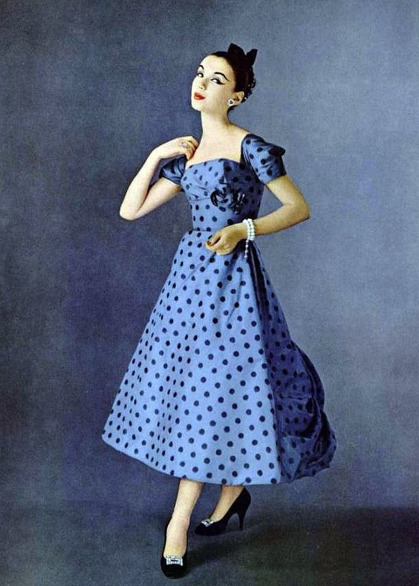 Polka Dot dress, 1956