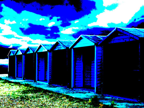 Eastney Beach huts 19/7/05