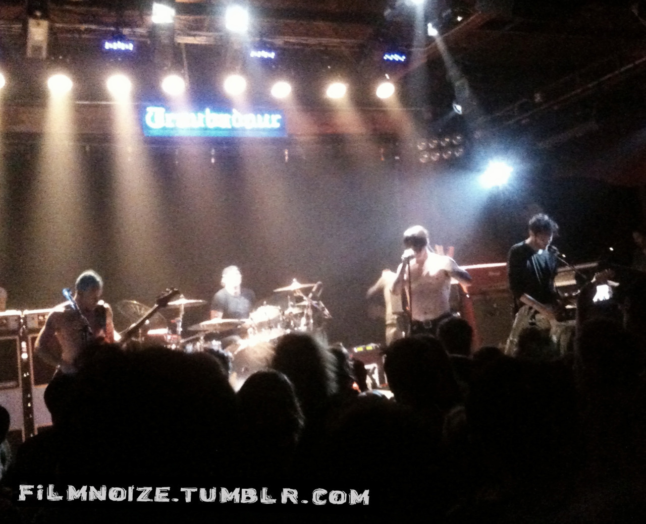 "Red Hot Chili Peppers played a secret show at the Troubadour on July 31, 2011 for 500 of their closest friends and family members. New guitarist Josh Klinghoffer has an array of pedals he uses for the upcoming ""I'm with you"" tour.  The albums first single ""Adventures of Raindance Maggie"" is layered with some of the spectacular sounds that these pedals create together. If you can help identify them all please let me know."