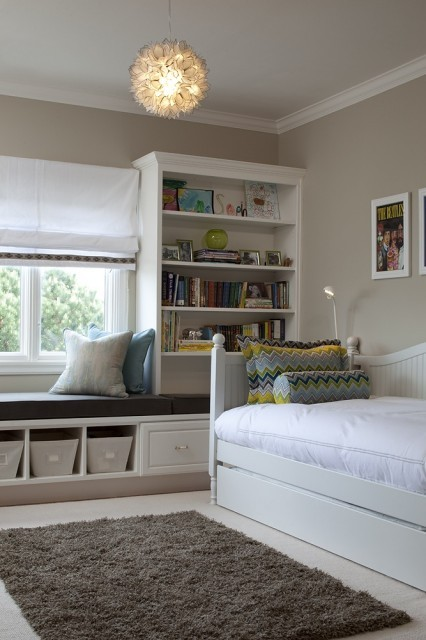 contemporary kids room + window seat (via Tineke triggs)
