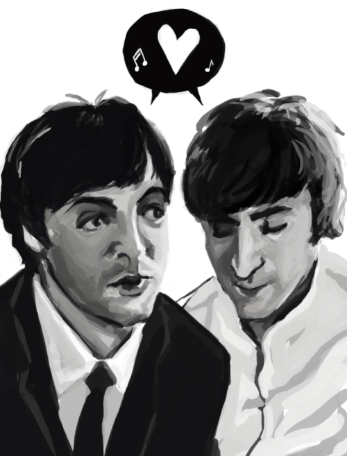 weepingrockrock:  So apparently I really suck at drawing Beatles. So sorry Mishia. I did it only for you love.  Thank you bb so much ♥♥♥