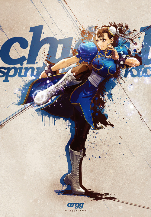 beautyofspring:  dotlikeme:  Chun Li by AlexanderNervossa  Shinkiro always knew how to make Chun-Li extremely cute.