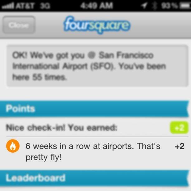 Not exactly something I want to be bragging about. (Taken with Instagram at San Francisco International Airport (SFO))