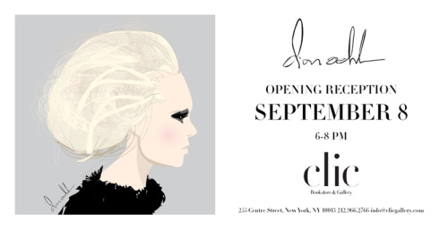 Save the date! @donoehl is exhibiting in New York this September! donoehl:  SAVE THE DATE!! THURSDAY SEPTEMBER 8, 6-8! I will be having my first solo show at clic gallery corresponding with Fall Fashion Week NYC! I am very excited to show my work!!