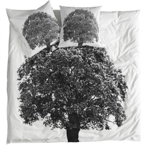 Duvet Cover Tree. At Le Souk here.   Bring nature into your home with this unique duvet cover from Danish label by nord.   I'm the opposite of most people. I hate window shopping for something I can't afford (that's why I craft, do photoshop, knit, weave, etc… in my spare time to make expensive looking things), but this is beautiful. It only comes in a European double and is way way way, did I say way? out of my price range at 180 Euros or $257.