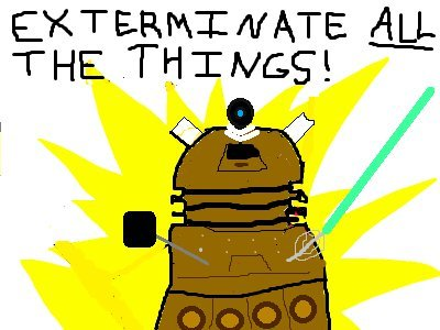 wilwheaton:  This is my favorite Doctor Who / Hyperbole and a half mashup, EVER* *it's also the only one I've seen, but I still love it. (via Reddit)