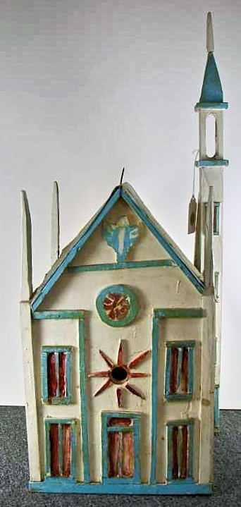 An outsider birdhouse for outside(r) birds: Folk art birdhouse by Aldo Piacenza (American, Unknown-1976)