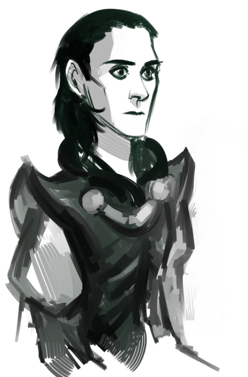 phobs-heh:  Fast Loki sketch. Another sai try.