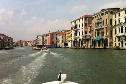 """Last weekend, in Venice to board a ship for an Adriatic cruise, I turned what could have been a boring hotel-to-pier transfer into a cool sightseeing experience: I hired a water taxi to take me and my husband from the Piazza San Marco, where our hotel was, up the entire length of the Grand Canal to the cruise pier. We motored under the Rialto and past countless famous museums, palazzos, and vaporetti. We had a gondolier's-eye view of Venice. Eventually we wound out of the touristy heart of the city and into neighborhoods where the locals live their everyday lives and that we would never have seen otherwise. And we were dropped off just a few feet from our cruise check-in desk. The cost? 110 euros—a bargain for an unforgettable and quintessentially Venetian experience."" —Consumer News Director Wendy Perrin, currently cruising the Mediterranean"
