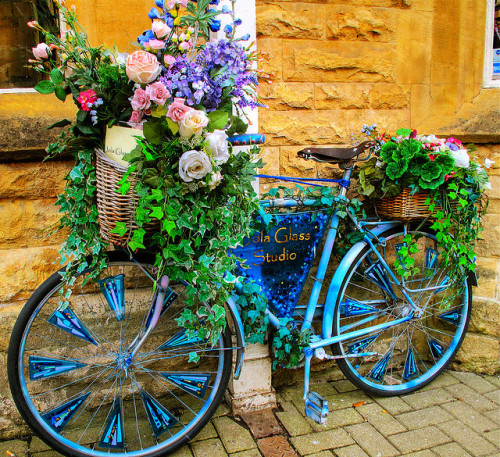 Bicycle, flower ='s love….. Glass studio