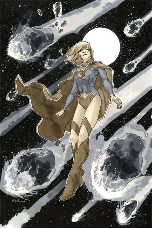 Supergirl #1 Cover, Black & White