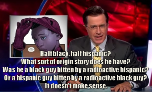 Steven Colbert on the new Ultimate Spider-man.