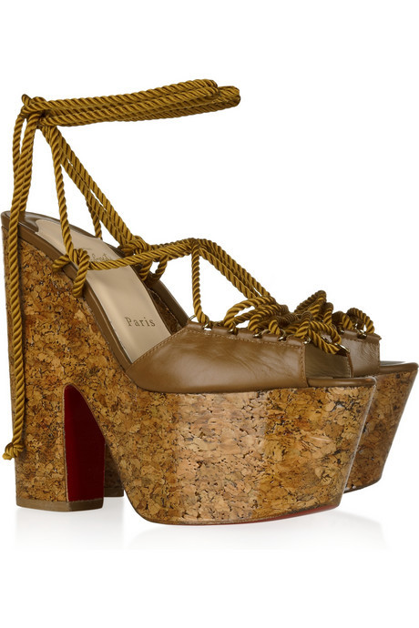 Christian Louboutin Jerry 160 Lace-Up leather sandals