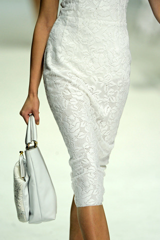 Here is a D&G dress closeup. I love the close cut skirt, pencil in nature, mixed with softening lace.