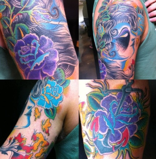This is my creativity inspired half-sleeve. Done by Jud Ferguson @ 7th Street Tattoos in Little Rock, AR.  lifeisbalance.tumblr.com
