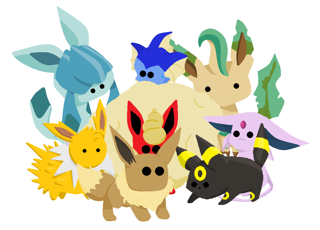 Here's all the eeveelutions together :D  Although some of them are kinda hidden