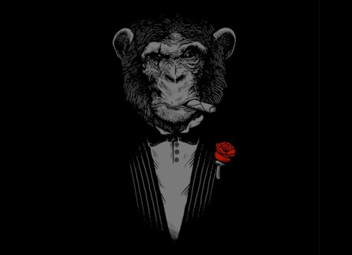 threadless:  Monkey Business by  Alex Solis is one of today's reprinted tees.