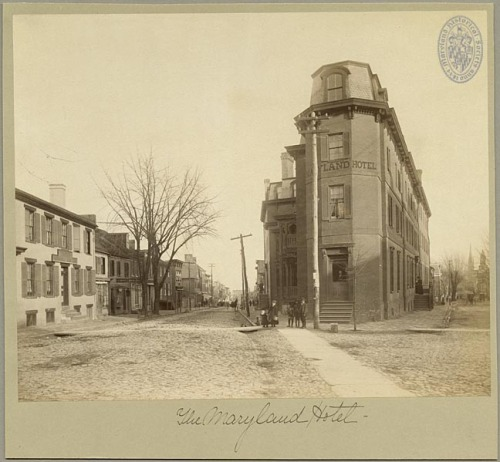 Maryland HotelAnnapolis, Marylandca. 1900Photographer unknown 9 x 7.75 inch mounted printSubject Vertical File (Anne Arundel Co. - Hotels) [SVF] If you know anything about this hotel, please feel free to comment!