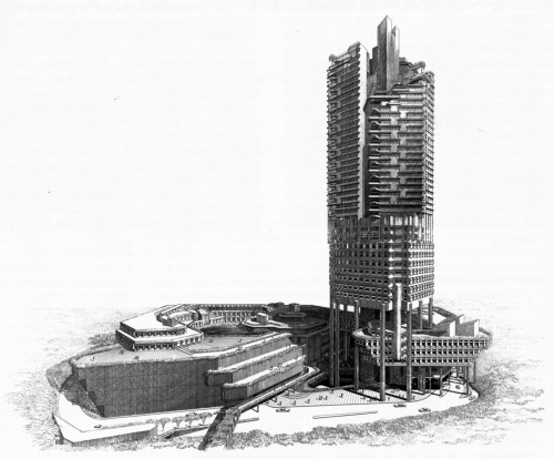 Paul Rudolph, Hong Fok Center, Singapore, 1980