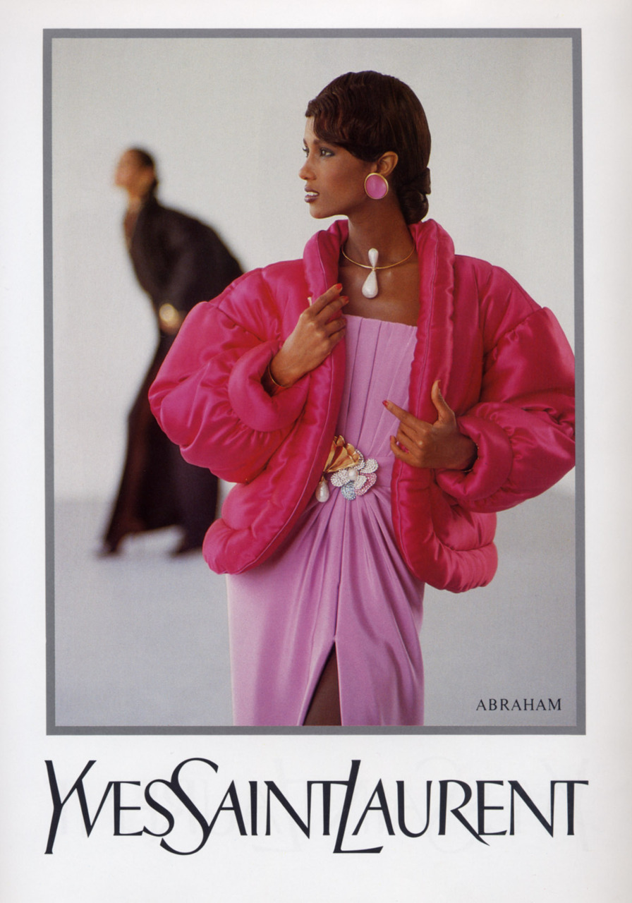 Iman in Yves Saint Laurant