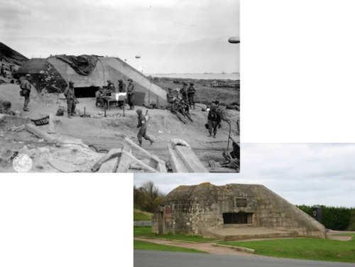 Normandy before and 65 years later.
