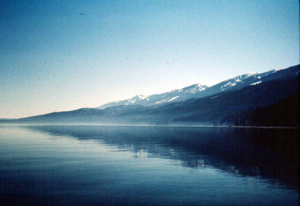 A Misty Flathead Lake, Montana It kindof reminds me of the Misty Mountains in Lord Of The Rings.