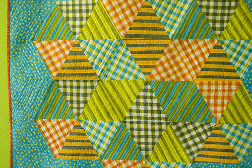 Superstar baby quilt detail (by stitchindye)