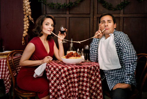 Tina Fey and Steve Carell photographed by Martin Schoeller
