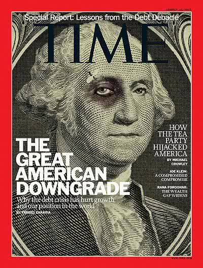 TIME magazine's cover on this week's economic crisis.