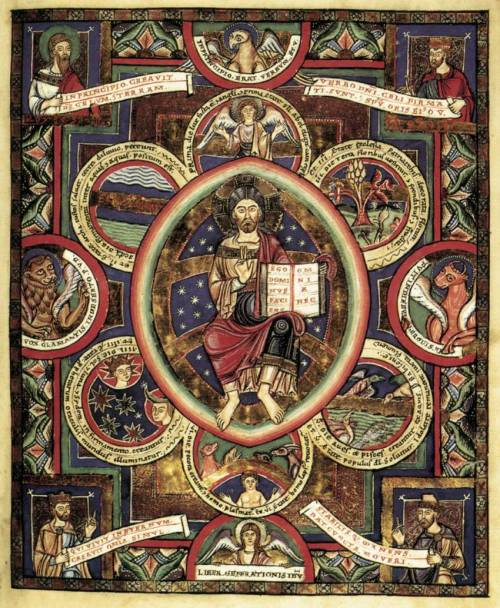 medieval:  Gospels of Henry the Lion1175-88Illumination on parchment, 340 x 255 mmHerzog-August-Bibliothek, Wolfenbüttel