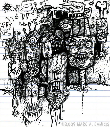 Horror Notebook Doodle page by pickledpunk on Flickr.