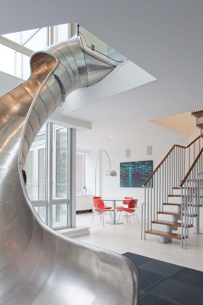wantsit:  Why take the stairs when you can slide?