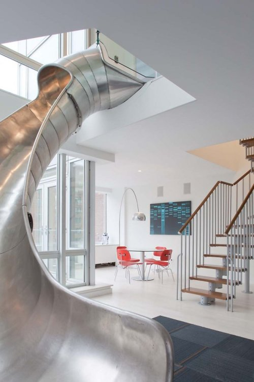 Why take the stairs when you can slide?