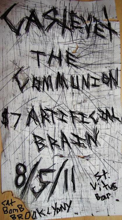 08/05/11 - Castevet, The Communion, Artificial Brain @ Saint Vitus Bar