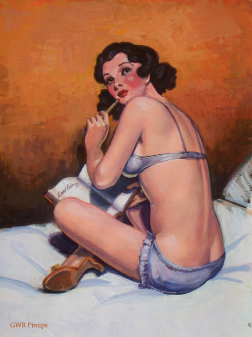 gwrpinups:  Dear Diary. After a Bedtime Stories cover by the brilliant H. J. Ward.