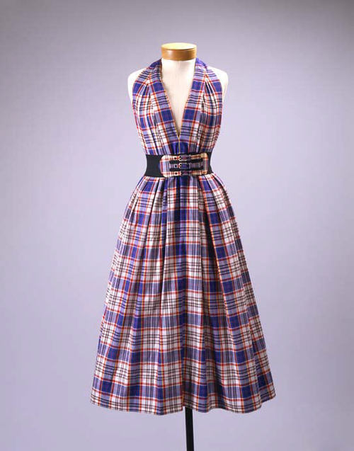 Claire McCardell dress ca. 1956 via The Costume Institute of the Metropolitan Museum of Art