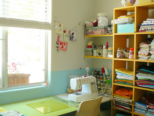 My sewing room (by Fallon Akers)