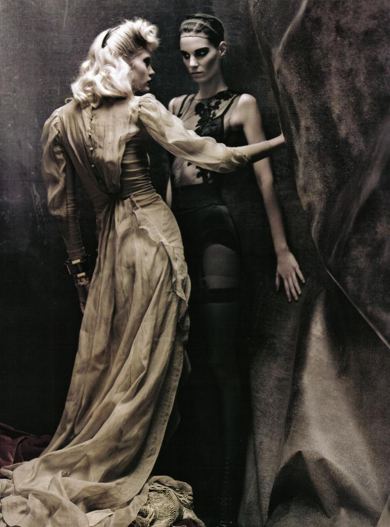 Heidi Mount and Iris Strubegger by Paolo Roversi for Vogue Italia