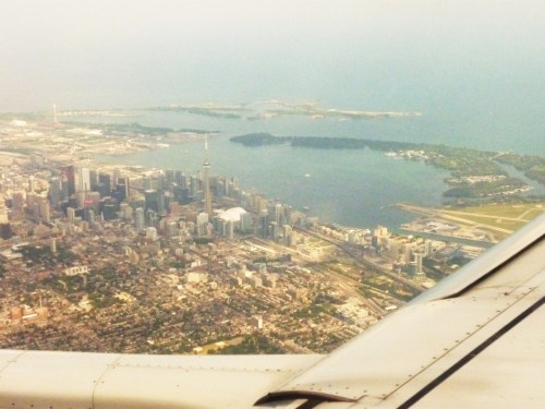 Home. Toronto from the sky. :)
