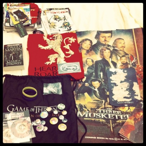 Finally went through all my #SDCC swag! Good times. (Taken with instagram)