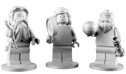3 LEGO Figures - Astronomer Galileo and Roman Gods Jupiter & Juno