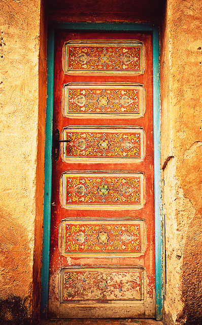 bella-illusione:  Door at Musee des Oudaia, a former palace built by Moulay Ismail, located inside Kasbah des Oudaias, Morocco.